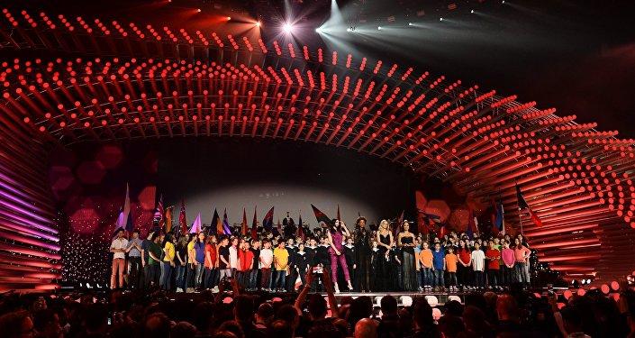 Eirovīzija 2015. Fināla koncerta mēģinājums. Foto no arhīva