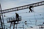 Работах по восстановлению электрической сети