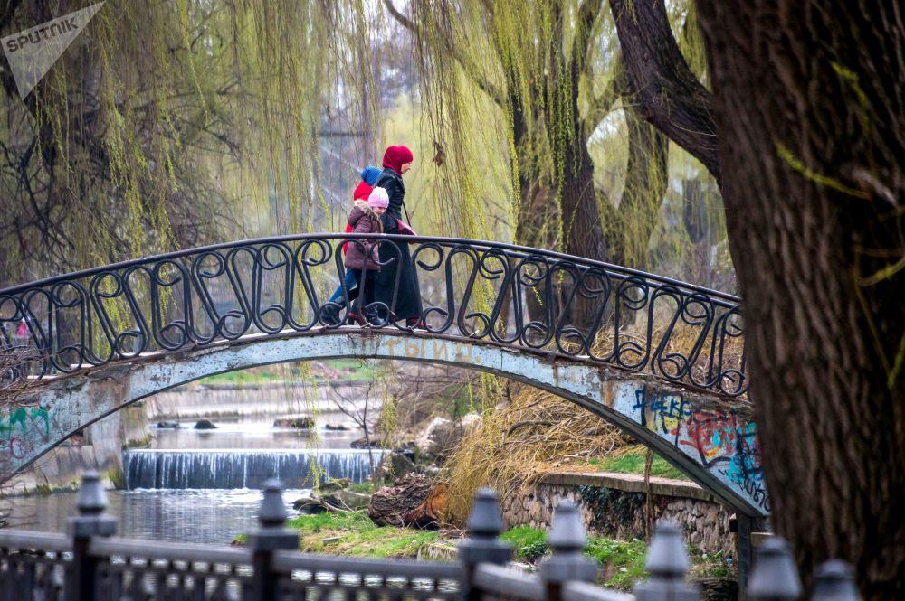 Мост через реку в Симферополе, Крым
