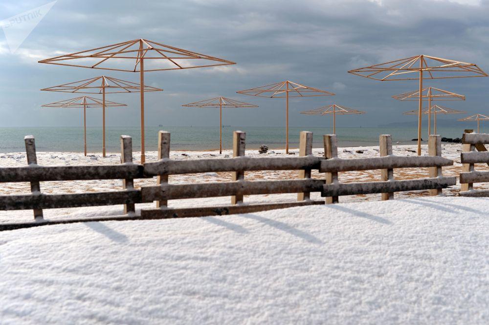 Пляж Феодосии, Крым