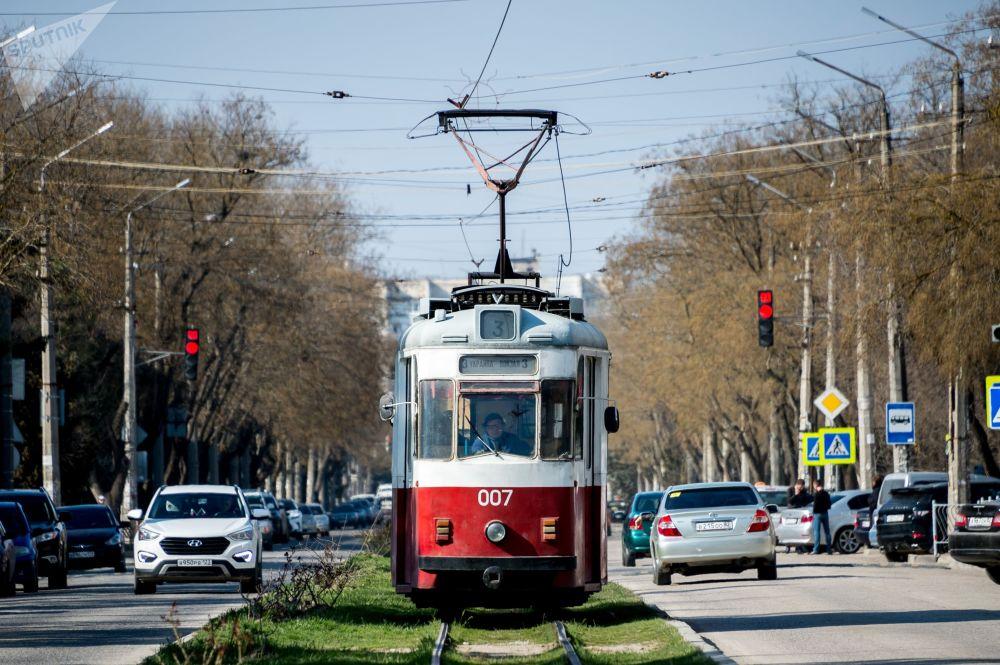 Трамвай в Евпатории, Крым