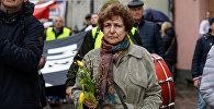 Татьяна Жданок на Марше рассерженных родителей в Риге в знак протеста против реформы в русских школах