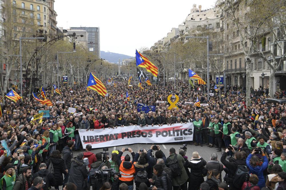 Protesti, ko rīko Barselonas iedzīvotāji