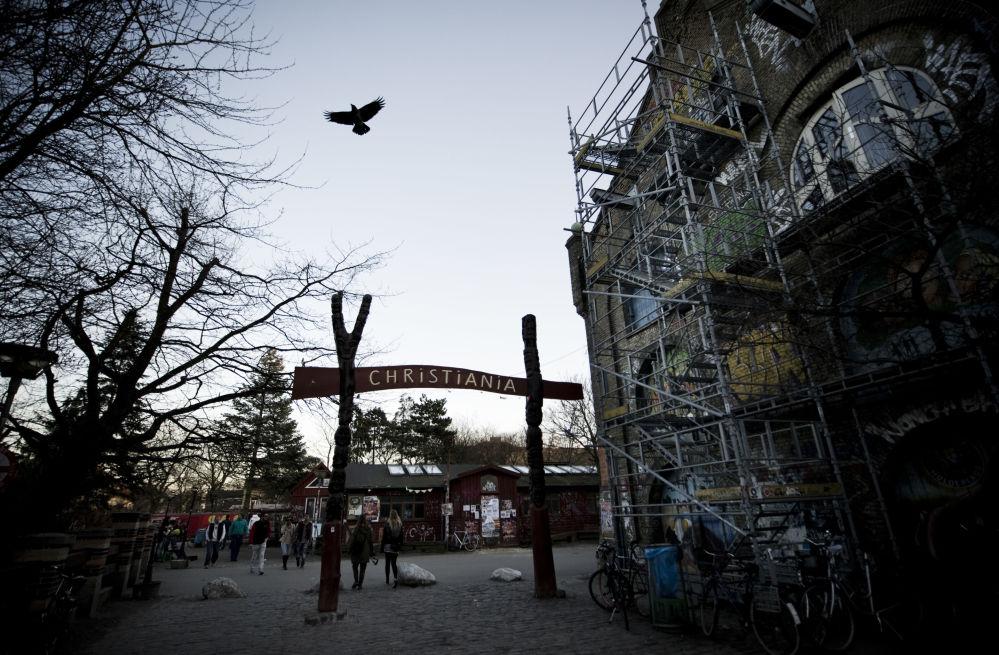 Ieeja Kristiānijas kvartālā Kopenhāgenā