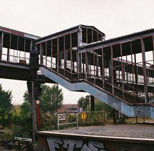 Dzelzceļa stacija Marzahn Austrumu Berlīnē