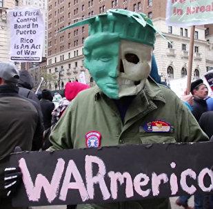 Протесты в США против ударов по Сирии
