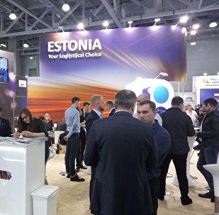Стенд Эстонии на международной выставке TransRussia 2018