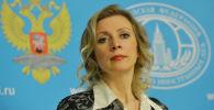 ĀM oficiālā pārstāve Marija Zaharova. Foto no arhīva