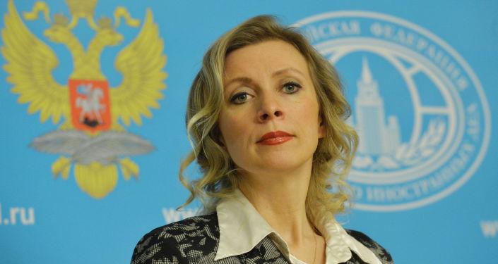 Krievijas Ārlietu ministrijas pārstāve Marija Zaharova