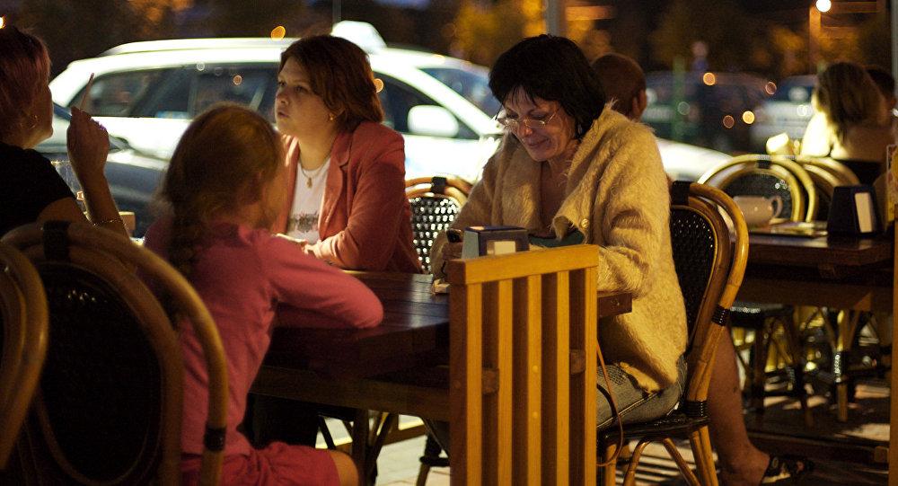 Ужин в кафе Риги
