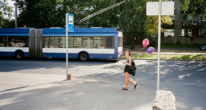 Троллейбус, архивное фото