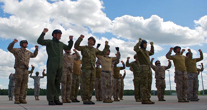 NATO un Latvijas armijas kopīgās mācības. Foto no arhīva