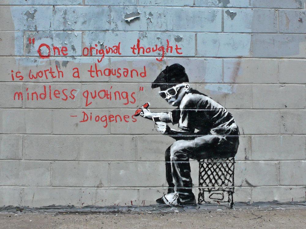 Viena oriģinālā doma ir tūkstošiem citātu vērta Diogens