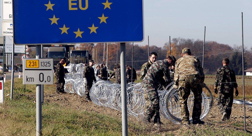 Возведение барьеров на границе в Европе