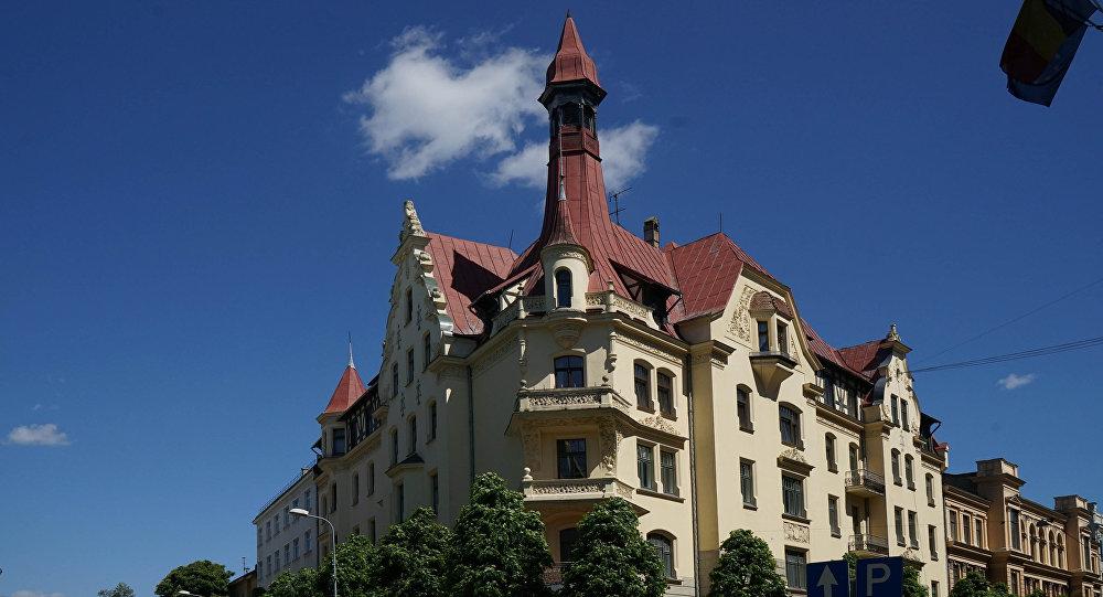 Здание в стиле модерн на углу улицы Альберта в Риге. Архивное фото