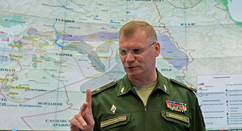 KF Aizsardzības ministrijas oficiālais pārstāvis Igors Konašenkovs. Foto no arhīva