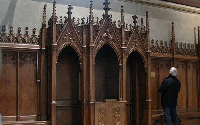 Katoļu baznīcā. Foto no arhīva