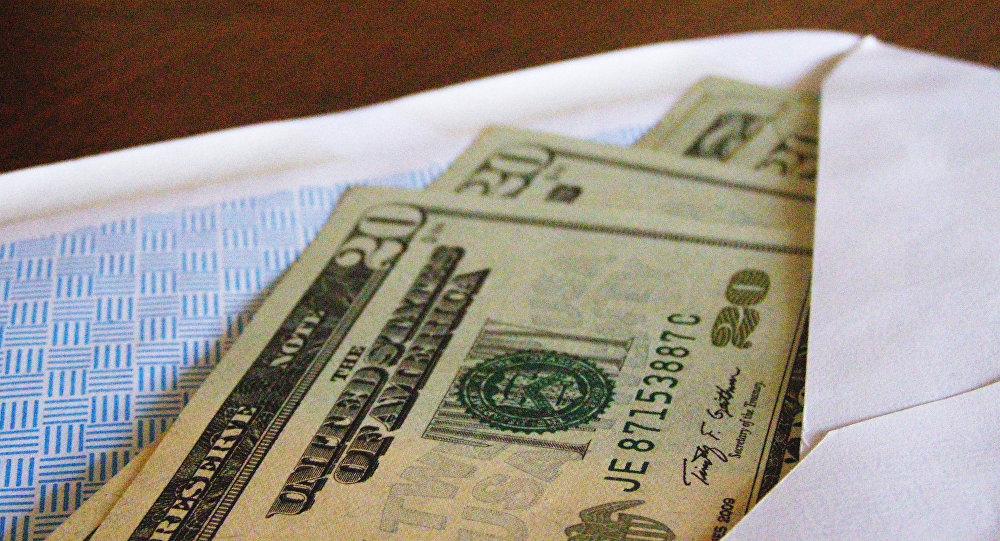 Американская валюта в конверте