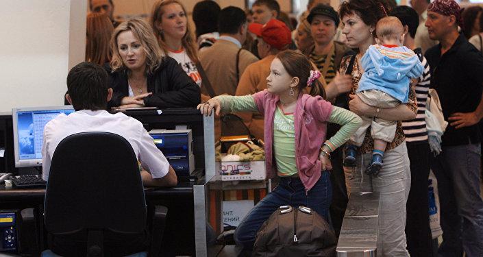 В аэропорту, архивное фото