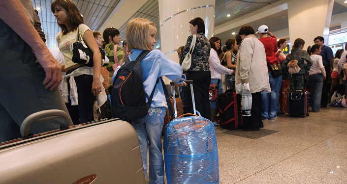 В международном аэропорту. Архивное фото