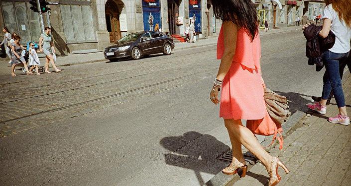 Пешеходный переход в Риге
