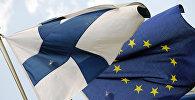 Флаги Финляндии и Евросоюза