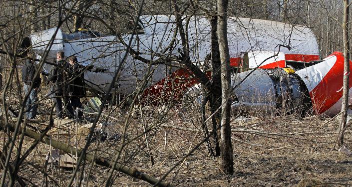 Место падения польского самолета Ту-154 под Смоленском. архивное фото