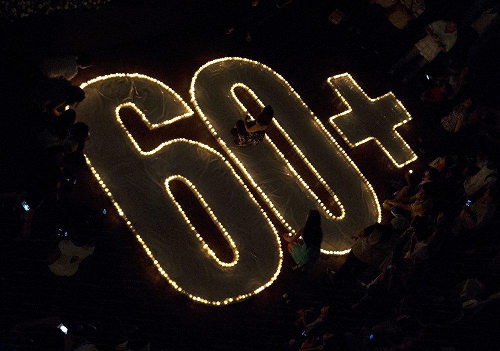 Свечи в день акции Час Земли