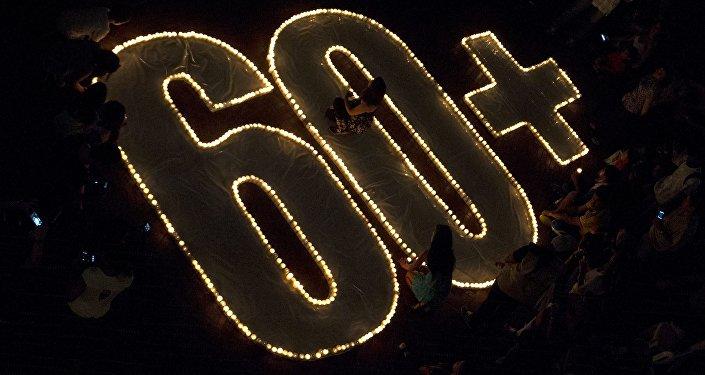 Свечи в день акция Час Земли. Архивное фото
