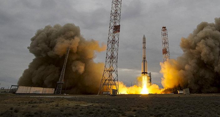 Запуск ракеты Протон-М на Марс с космодрома Байконур