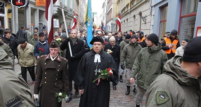 Waffen SS leģionāru un viņu atbalstītāju gājiens Rīgā