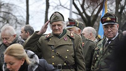 Шествие легионеров Ваффен СС и их сторонников в Риге